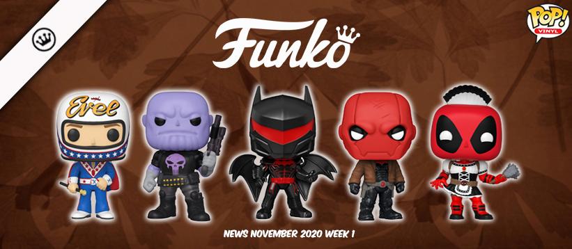 Funko Nieuws November 2020 Week 1! Evel Knievel, Blizzard, DC en meer!