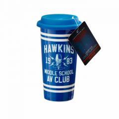 HAWKINS AV CLUB LIDDED MUG
